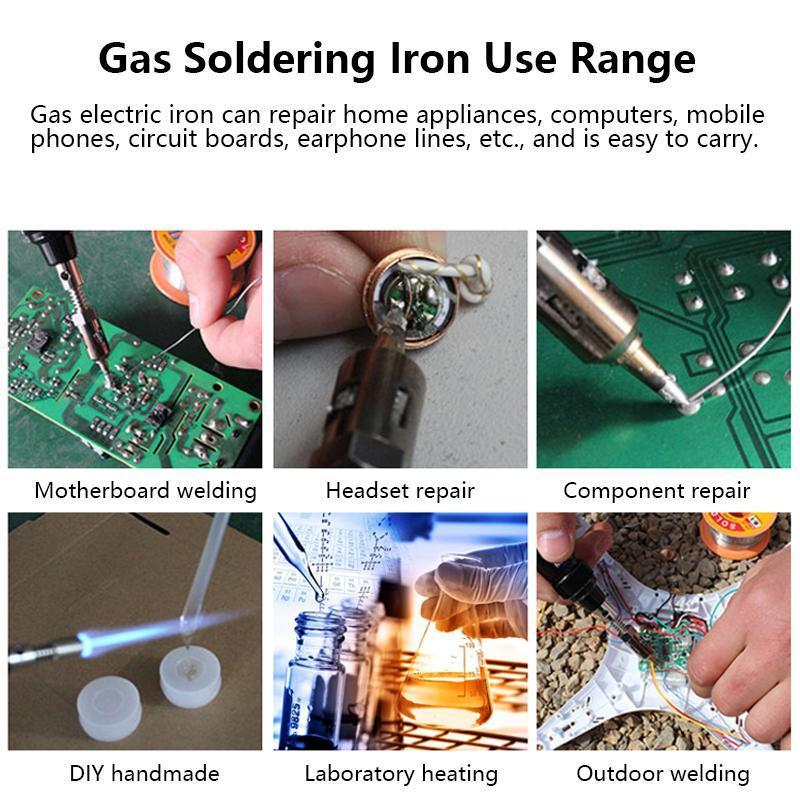 Butane Soldering Iron 8ml Cordless Self-Igniting Solder Station, Adjustable Flame