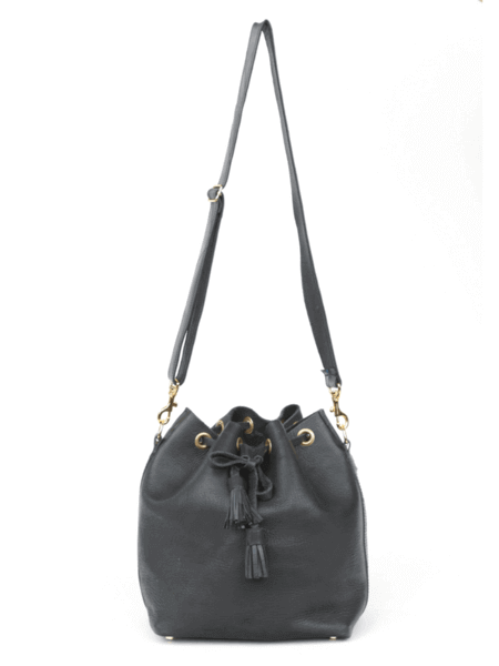 DAPHNEE BUCKET BAG, ASPHALT