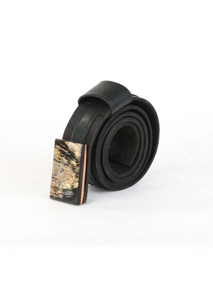 """DEUX"" BELT FOR HIM, ASPHALT AND INNER TUBE"