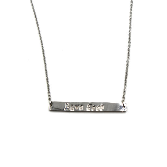 Silver Bar Necklace