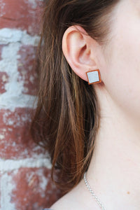 Brown Trio Geometric Post Earring Set