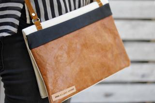 Canvas Leather Fold Over Bag
