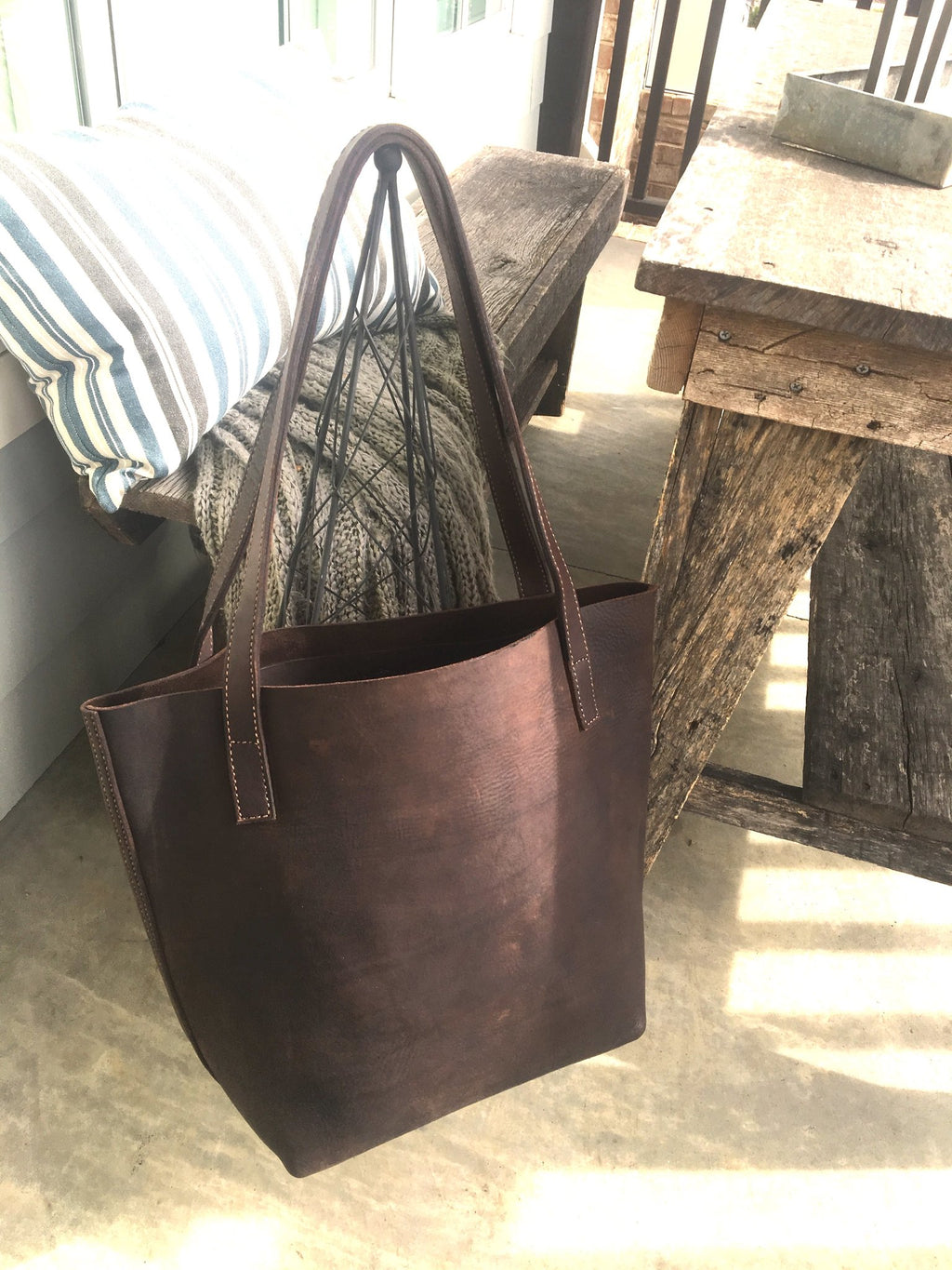 Bel Tote Dark Brown