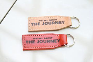 """It's all about the Journey"" Leather Key Chain"