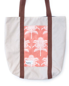 Pink Palm Trees Bucket Bag