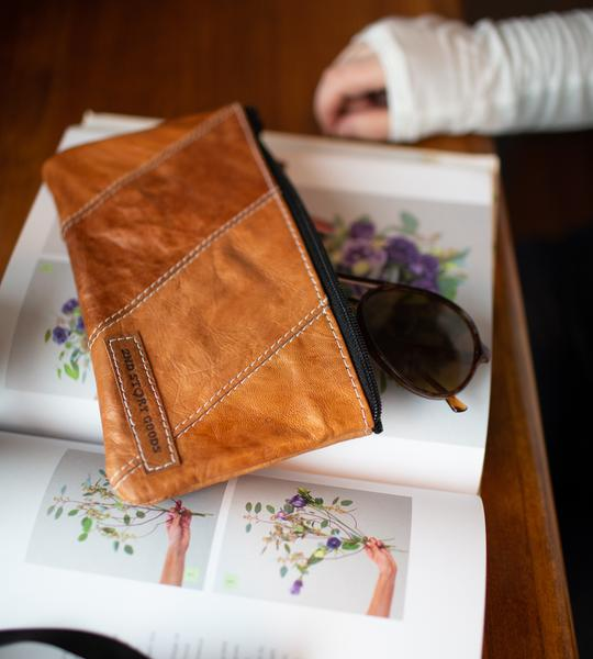 Two Shades of Leather Pouch