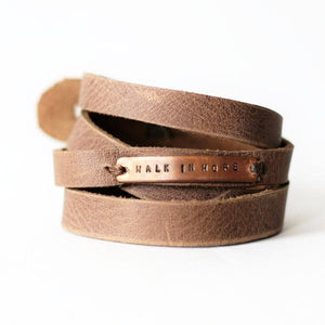 Walk in Hope Leather Wrap