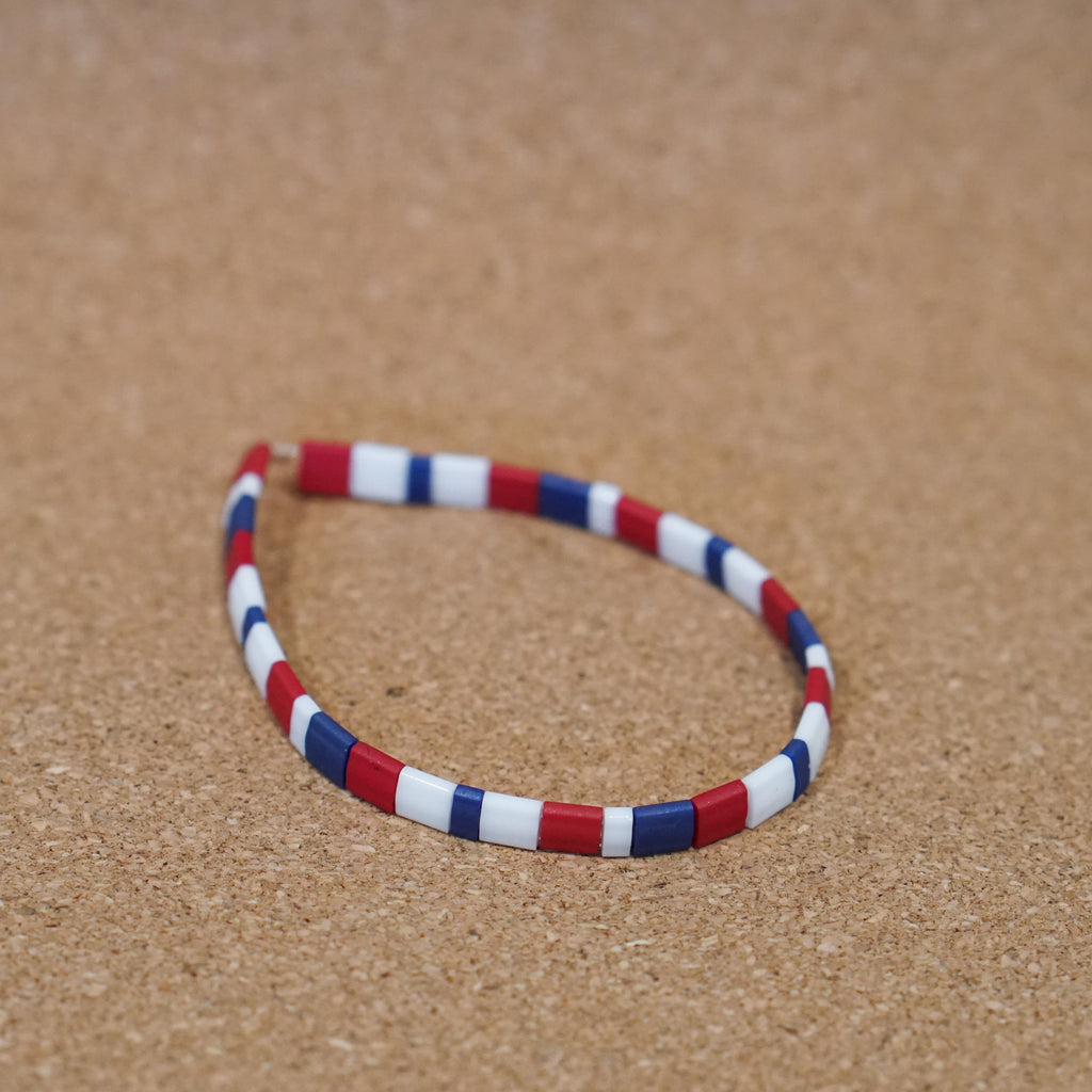 happy fourth of july - stretch tile bracelet