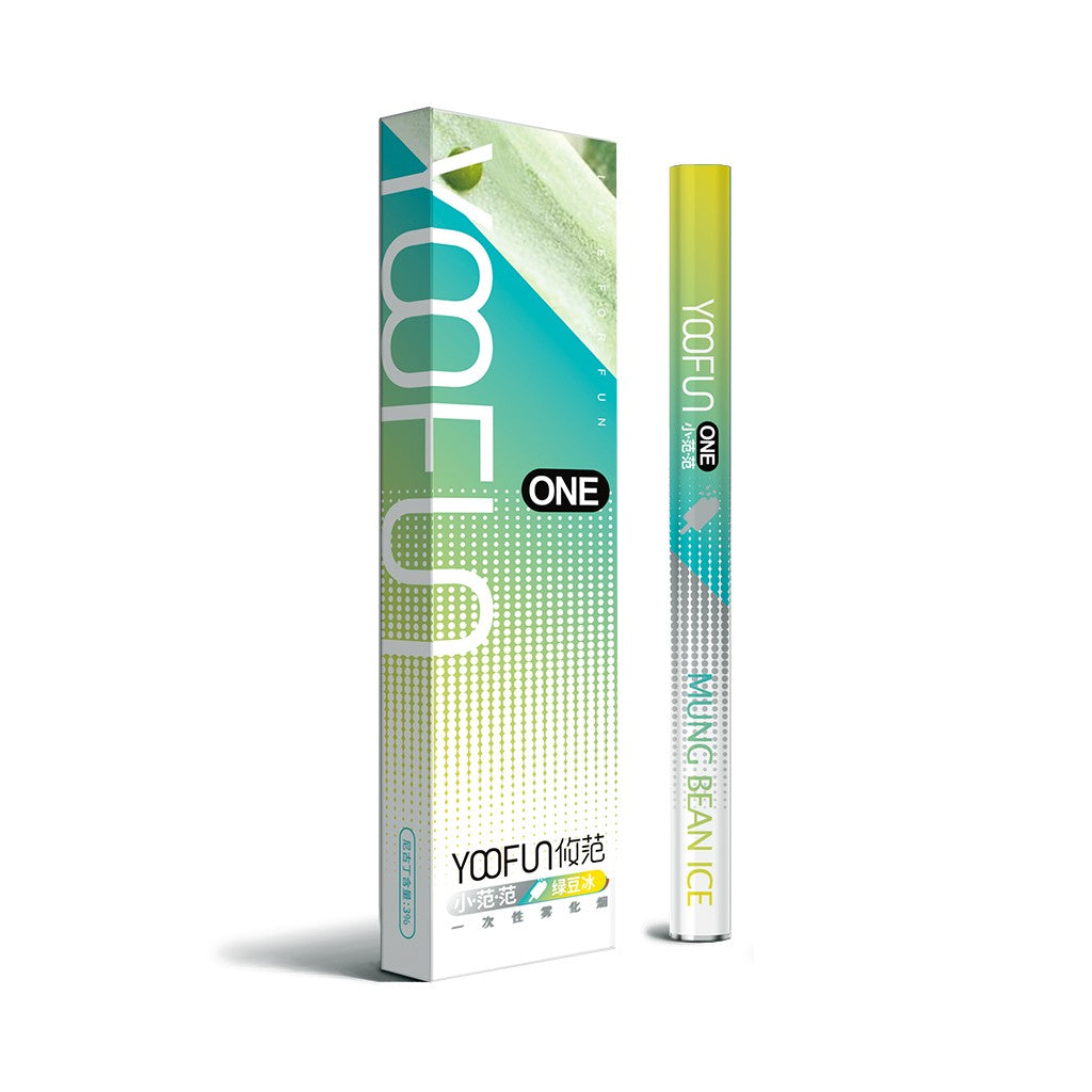 YOOFUN ONE Pre-filled Disposable starter kit 320mAh-Mung Bean Ice-ECOAO at ecoao