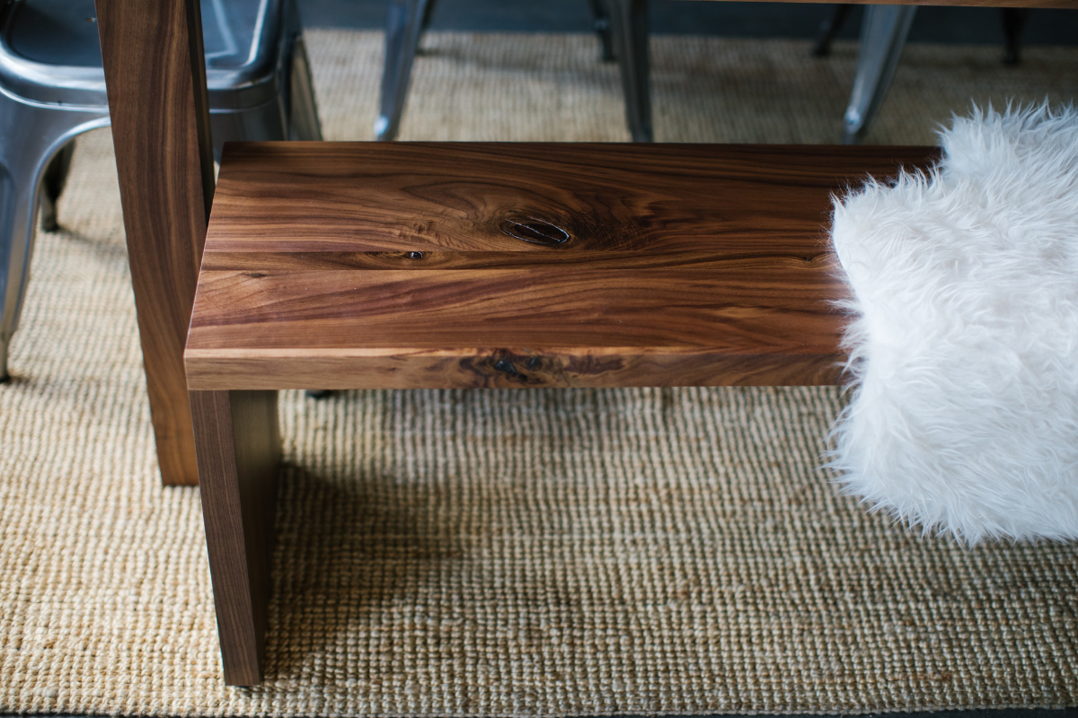 The Columbia Bench | Rustic Walnut
