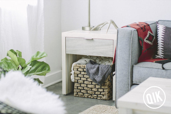 The Quandary End Table + Storage