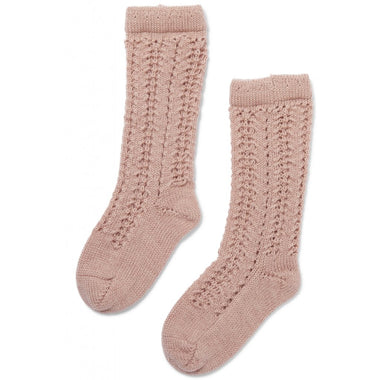 Konges Sløjd Kousen Wool Pointelle | Rose Blush