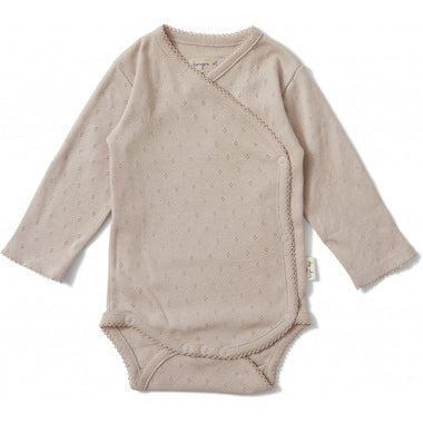 Konges Sløjd newborn overslag romper Minnie Rose Grey