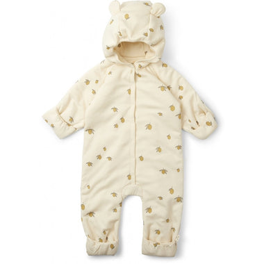Konges Sløjd Onesie Playsuit With Hood - Lemon