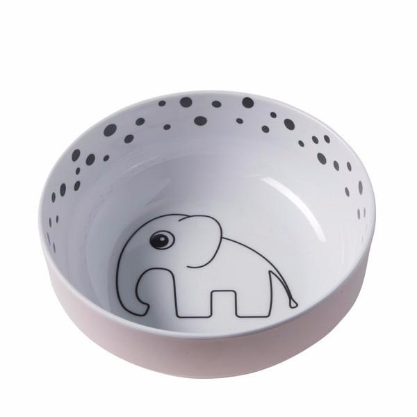 Done By Deer Melamine Bowl Dots Yummy Pink - DE GELE FLAMINGO - Kids concept store