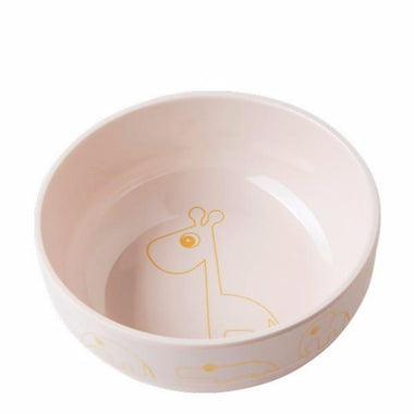 Done By Deer Melamine Bowl Contour gold/powder