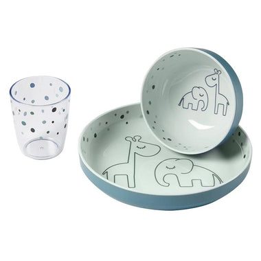 Done By Deer Melamine Mini Dinner Set - Dramy Dots Blue