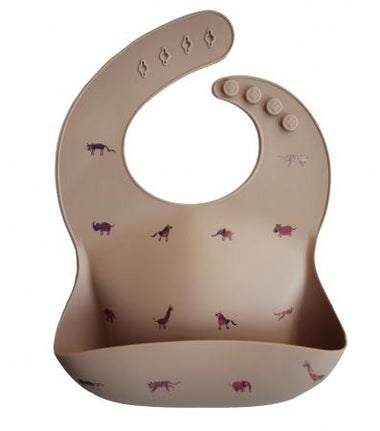 Mushie Bibs Siliconen Slab - Brown Safari Tan