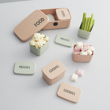 Design Letters Snack Box Veggies | Green