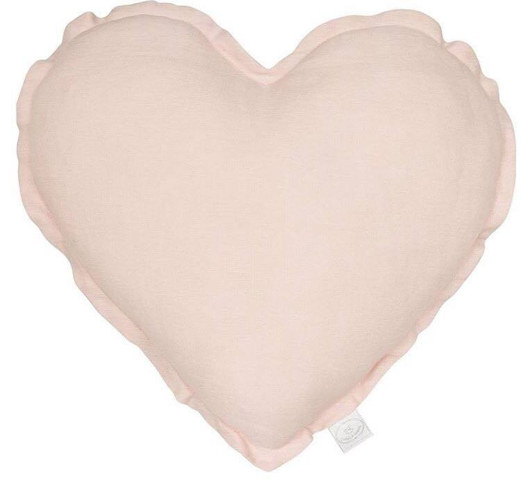 Cotton & Sweets Kussen heart Dusty Pink - DE GELE FLAMINGO - Kids concept store