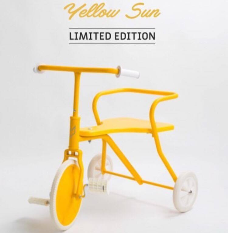 Foxrider driewieler Yellow limited edition - PRE ORDER levering vanaf 30/09 - DE GELE FLAMINGO - Kids concept store