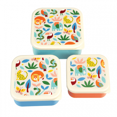 Set 3 snack boxen Wild Wonders
