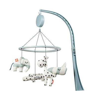 Done By Deer muziekmobiel met spiegel - Sleepy blue