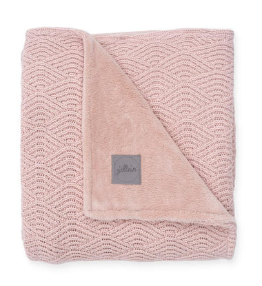 Jollein Deken 75x100cm Fleece | River Knit Pale Pink/Coral