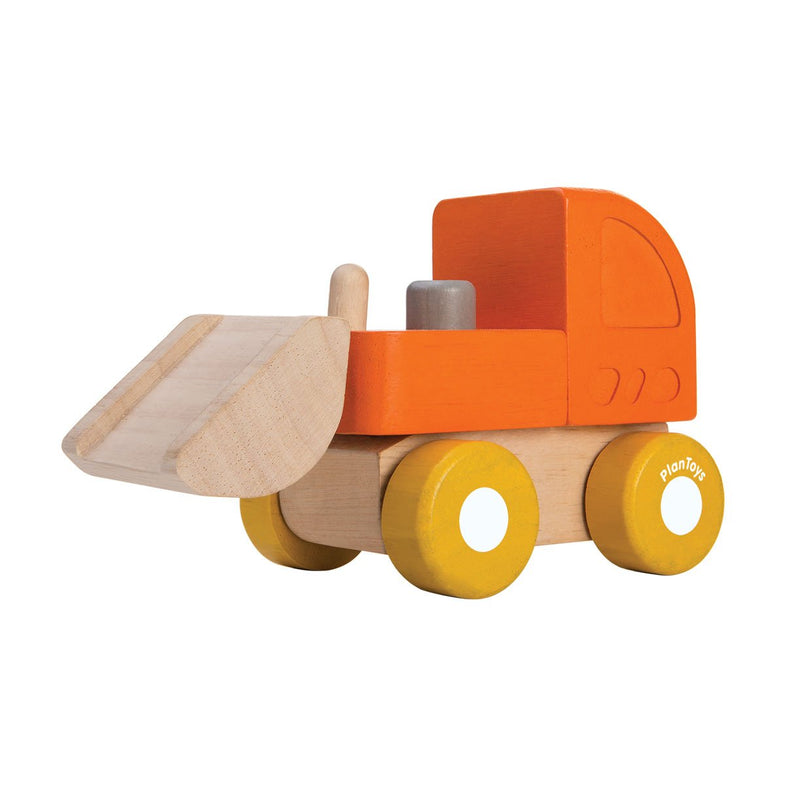 Plantoys Houten mini bulldozer
