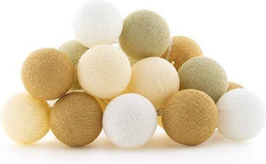Cotton Ball Lights Lichtslinger 20 stuks - Creamy
