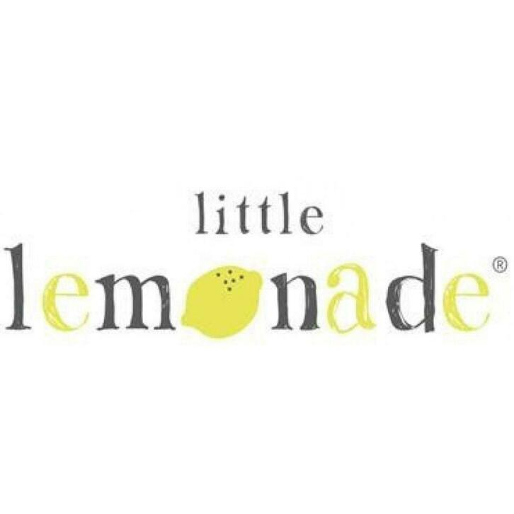 Little Lemonade set 3 hydrofiele washandjes Triangle grey/black