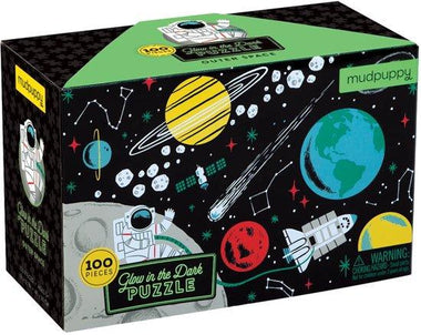 Mudpuppy Glow In The Dark Puzzel 100st - Outer Space