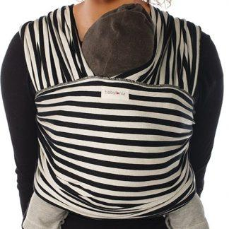 Babylonia draagdoek Tricot Slen Design Black & White Stripes