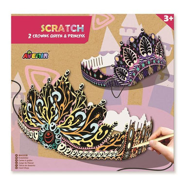 Avenir Scratch Knutselset Kras | 2 Crowns Queen & Princess