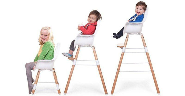 Childwood EVOLU2 meegroeistoel Antraciet 2 in 1 + beugel - DE GELE FLAMINGO - Kids concept store