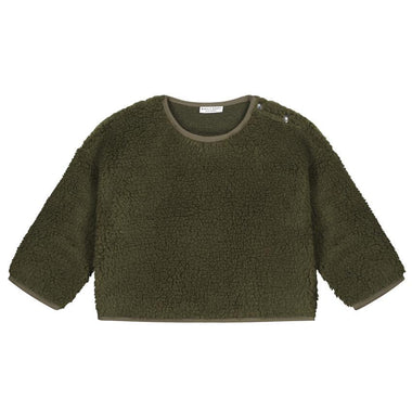 Daily Brat Teddy Oversized Sweater | Forest Green