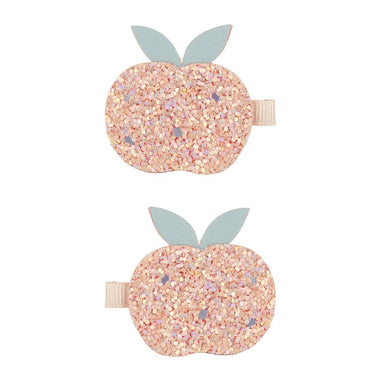 Mimi & Lula set 2 Clips | Glitter Peach