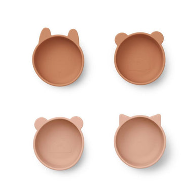 Liewood Iggy Silicone Bowls 4pack | Tuscany Rose Mix