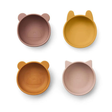 Liewood Iggy Silicone Bowls 4pack | Rose Mix