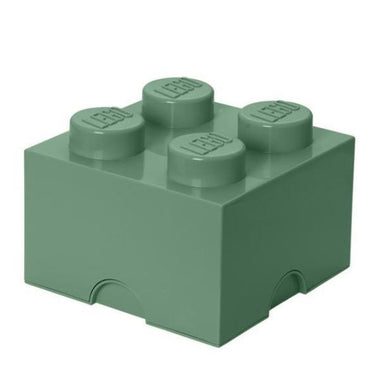 Lego Opbergbox Brick 4 sand green