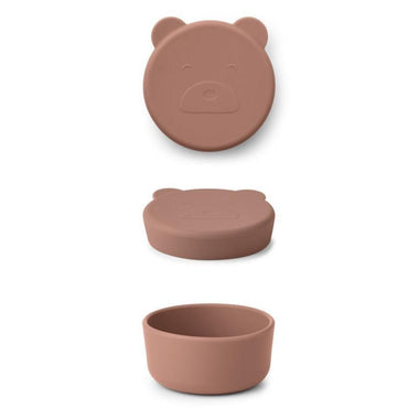 Liewood Carrie Snack Box | Mr Bear Dark Rose