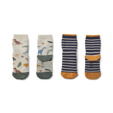 Liewood Nellie Socks 2-pack  | Dino Mix