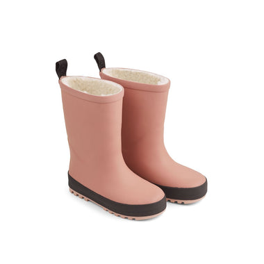 Liewood Mason Thermo Rain Boot | Dark Rose/ Black Mix