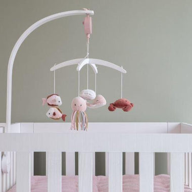 Little Dutch houten muziekmobiel wit | Ocean Pink