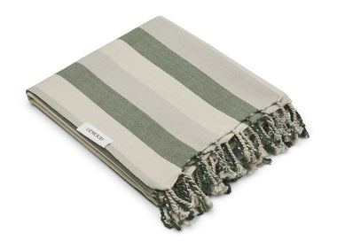 Liewood Mona Beach Towel | Garden Green/ Sandy/ Dove Blue