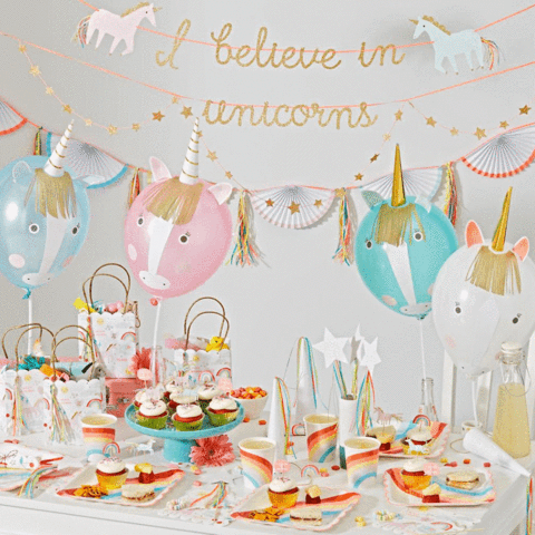 Meri Meri Balloon deco kit Unicorn - DE GELE FLAMINGO - 3