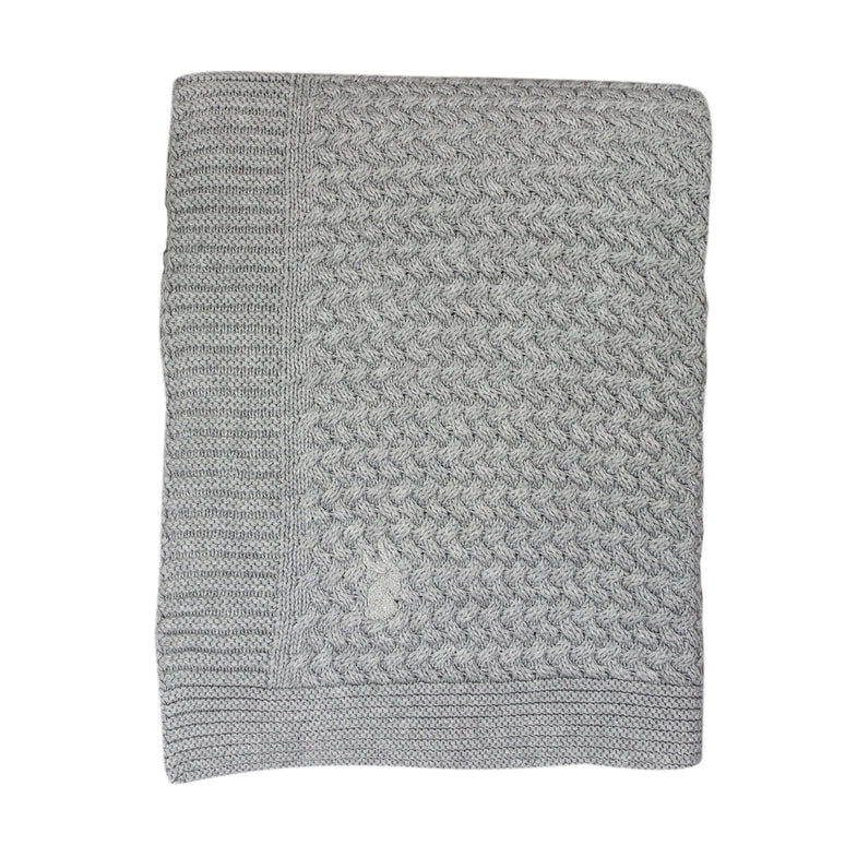 Mies & co Soft Knitted Blanket 110x140cm Soft Grey