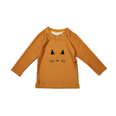 Liewood Noah UV Swim T-shirt | Mustard Cat