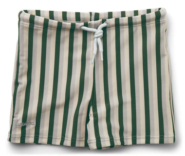 Liewood Otto Swim Pants | Stripe Garden Green/ Sandy/ Dove Blue