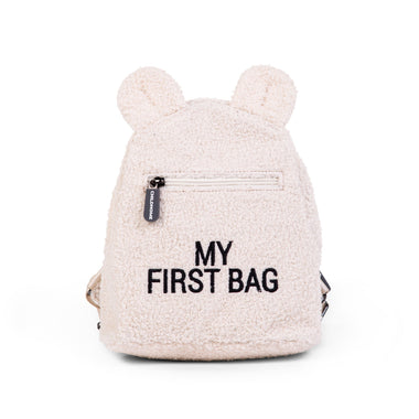 Childhome Rugzakje Kids My First Bag Canvas | Teddy Offwhite